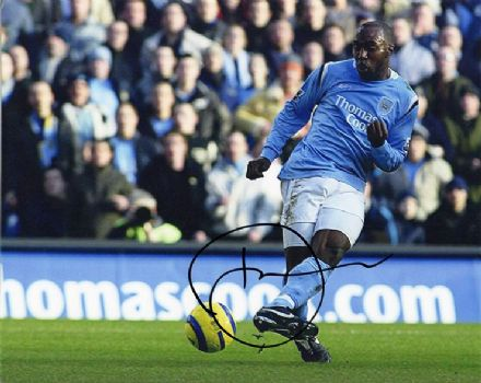 Darius Vassell, Manchester City & England, signed 10x8 inch photo.